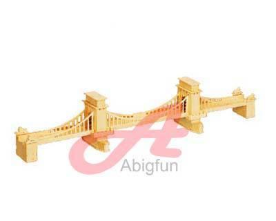 Wood Craft on Chain Bridge Wooden Construction Kit Intelligent Toy Manufacturer