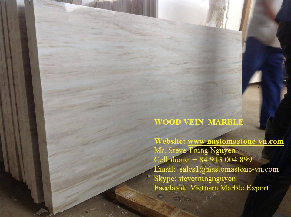 Wood vein marble slabs from nastoma stone vietnam for 14th floor records contact