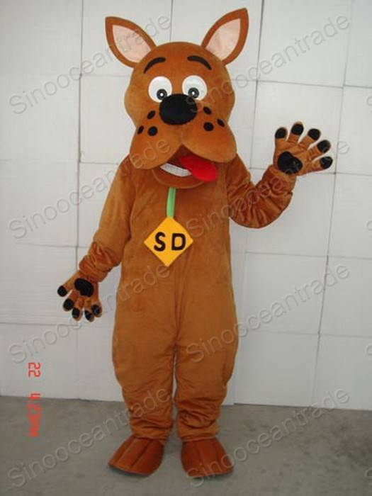 Scooby Doo Dog Adult Size Cartoon Mascot Costume Fancy Dress Outfit ...