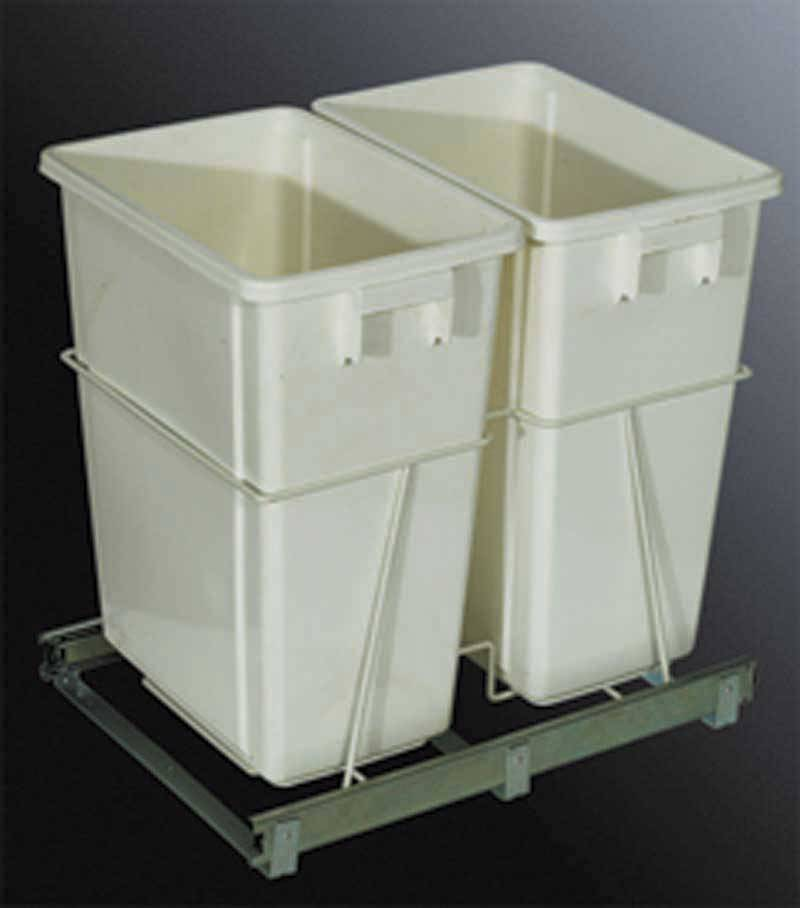 Garbage cabinet ask home design for Bins for kitchen cabinets
